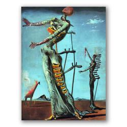 La jirafa en llamas-Copia obras arte famosas salvador dali