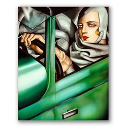 Autorretrato en el bugatti verde-Copia obras arte famosas tamara de lempicka