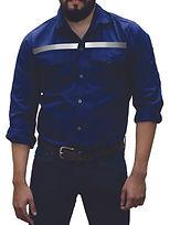 dotaciones empresariales camisa drill azul oscura reflectiva medellin.jpg