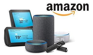 domotica y automatización de la casa inteligente, parlantes inteligentes alexa asistente virtual