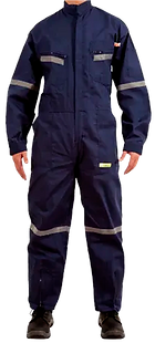 Overol tipo piloto reflectivo negro mede