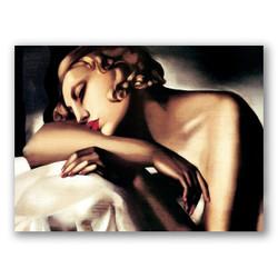 La durmiente-Copia obras arte famosas tamara de lempicka