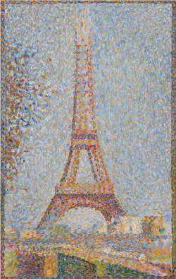 Eiffel tower-Copia obras arte famosas georges pierre seurat