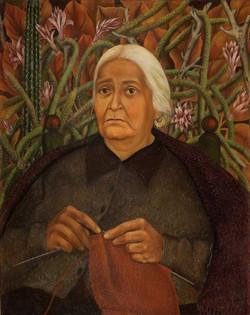Retrato de doña rosita morillo-Copia obras arte famosas frida kahlo