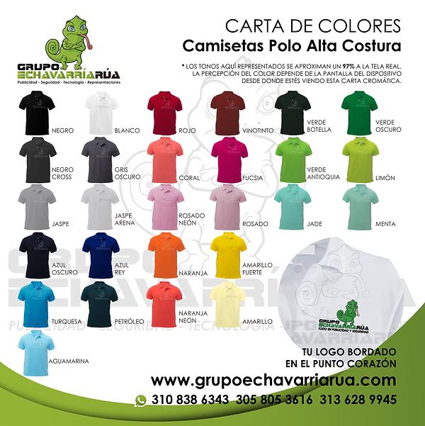 Camisetas tipo polo manga corta para dotaciones en medellin
