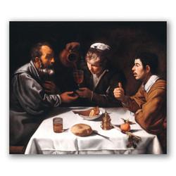 Tres hombres a la mesa-Copia obras arte diego velazquez