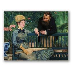 En el conservatorio-Copia obras de arte famosas edouard manet