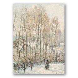Luz solar en la nieve por la mañana-Copia obras de arte famosas camille pissarro