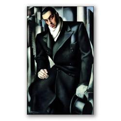 Retrato de un hombre-Copia obras arte famosas tamara de lempicka