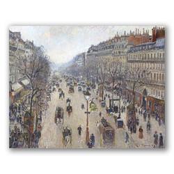 Boulevard montmartre invierno-Copia obras de arte famosas camille pissarro