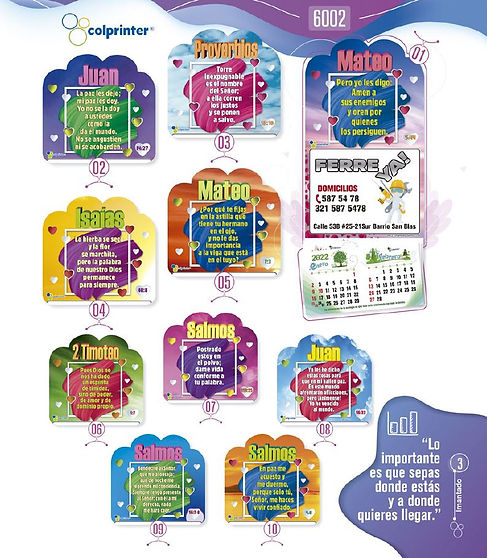 Almanaques y calendarios publicitarios imantados salmos Ref6002.JPG