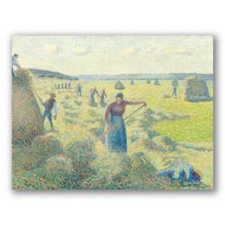 La recolecta de heno en eragny-Copia obras de arte famosas camille pissarro