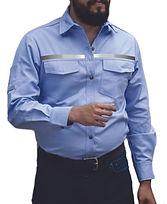 dotaciones empresariales camisa drill azul clara reflectivo medellin.jpg