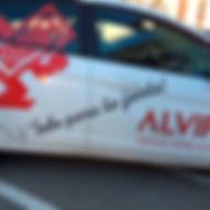 Publicidad en vehiculos rotulación adhesivos microperforados carros