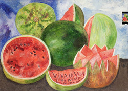 Viva la vida-Copia obras arte famosas frida kahlo