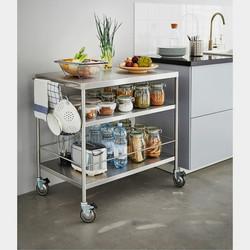Mobiliario muebles para el hogar,oficina,restaurantes,bares mesas con ruedas para comidas bares inox