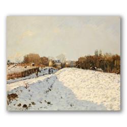 Nieve en argenteuil-Copia obras arte famosas alfred sisley