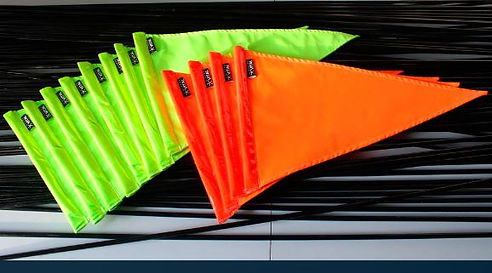 Banderines fluorescentes para motos, bic