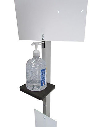 dispensador para gel antibacterial y jab
