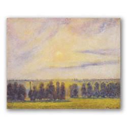 Puesta de sol en eragny-Copia obras de arte famosas camille pissarro