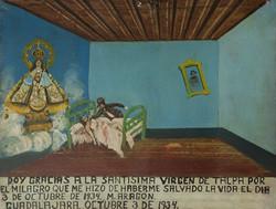 Exvoto dedicado a la virgen de talpa-Copia obras arte famosas frida kahlo