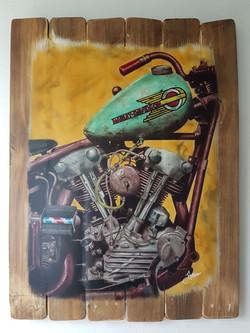La vieja Harley 1 - Obras de arte Aerografo