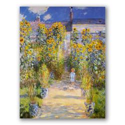 Jardín de Monet en Vetheuil-Copia obras arte claude monet