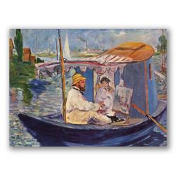 El estudio flotante-Copia obras de arte famosas edouard manet