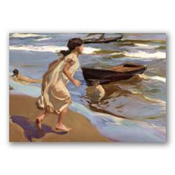 Niña entrando al mar-Copia obras arte joaquin sorolla y bastida