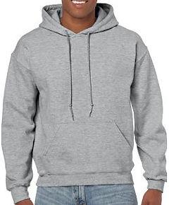 Buso perchado capucha gris jasped gildan