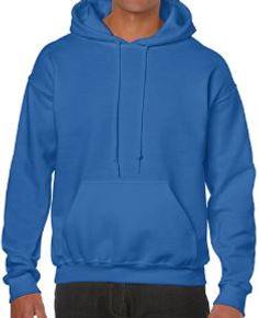 Buso perchado capucha azul royal gildan