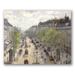 Boulevard montmartre primavera-Copia obras de arte famosas camille pissarro