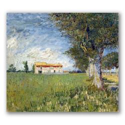 Casa en campo de trigo-Copia obras arte famosas vincent van gogh