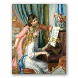 Dos niñas al piano-Copia de obras de arte famosas pierre auguste renoir