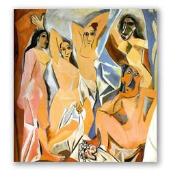 Las señoritas de Avignon-Copia obras arte pablo picasso