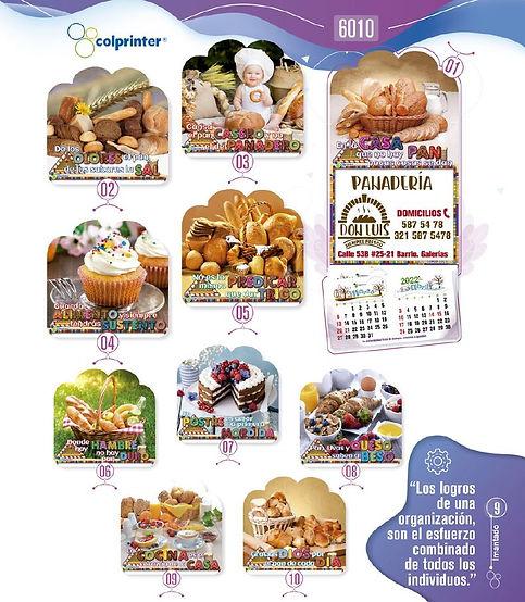 Almanaques y calendarios publicitarios imantados panes Ref6010.JPG