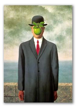 El hijo del hombre-Copia obras de arte famosas rene magritte