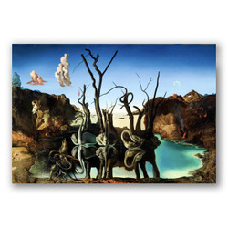 Cisnes que reflejan como elefantes-Copia obras arte famosas salvador dali