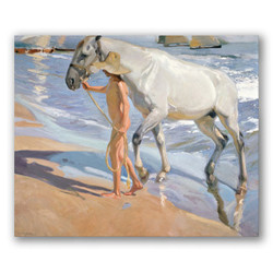 El baño del caballo-Copia obras arte joaquin sorolla y bastida