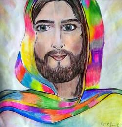 Jesús de Colores - Protección - Obras de Arte