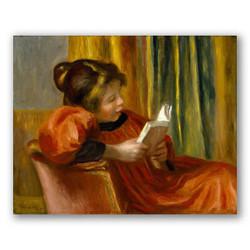 niña leyendo-Copia de obras de arte famosas pierre auguste renoir
