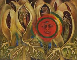 Sol y vida-Copia obras arte famosas frida kahlo