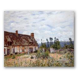 Casa abandonada-Copia obras arte famosas alfred sisley