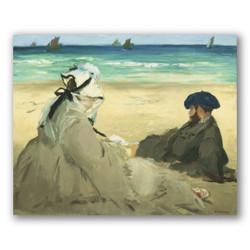 En la playa-Copia obras de arte famosas edouard manet