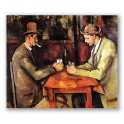 Los jugadores de cartas-Copia obras arte paul cezanne