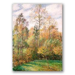Otoño alamos eragny-Copia obras de arte famosas camille pissarro