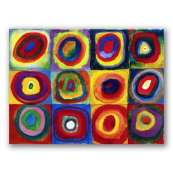 Estudio de color con cuadrados-Copia obras arte famosas wassily kandinsky