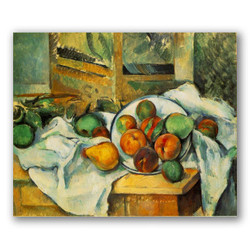 Mesa mantel y fruta-Copia obras arte paul cezanne