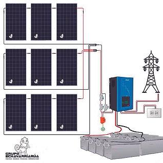 Kit de energia solar paneles 12060 watts