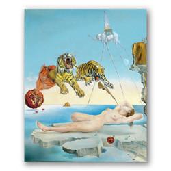 Sueño causado por el vuelo de una abeja-Copia obras arte famosas salvador dali